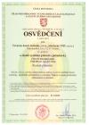 THT certifikát